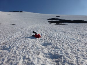 Self arrest on the Coleman Glacier