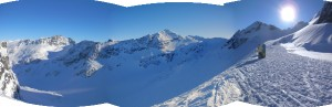 Blackcomb Glacier panorama