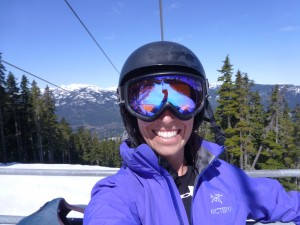 Spring skiing grin