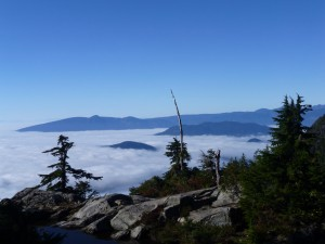 Howe Sound, sea of cloud