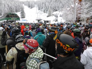Creekside powder day lineup