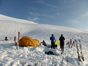 Camp on Heliotrope Ridge