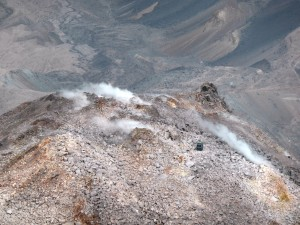 Crater vents, Mount St. Helens