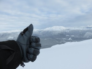 Chaval gloves above Callaghan