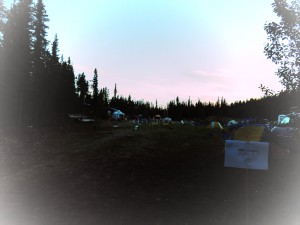 Early hours at the 24HoL campground